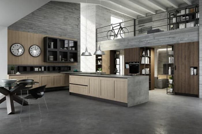 cucina-in-legno-moderna-con-soppalco
