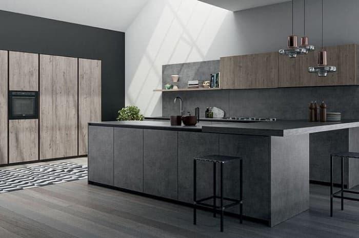 cucina-moderna-colore-grigio-scuro