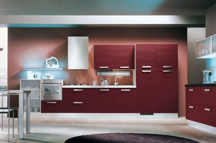 cucina-moderna-conlore-rosso