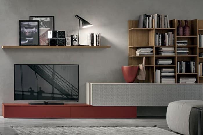 mobile-soggiorno-piano-tv-colore-rosso