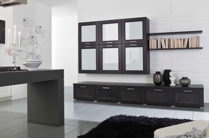 mobilia-soggiorno-colore-nero