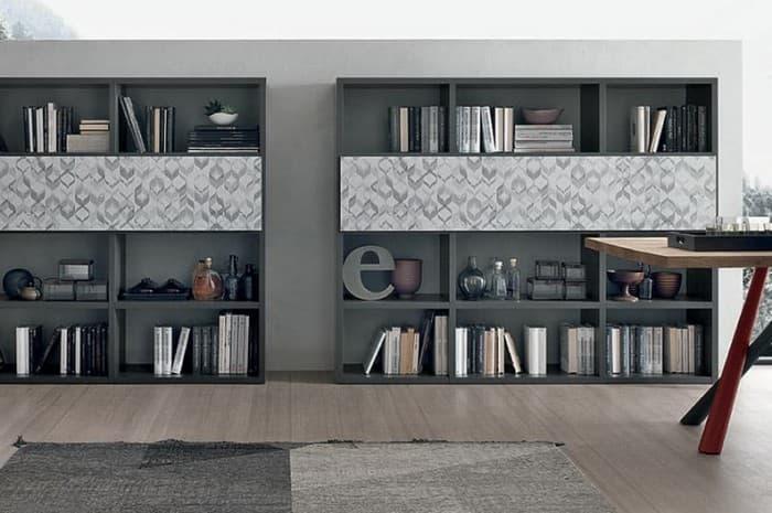 mobile-soggiorno-stile-modermo-colore-grigio-e-nero