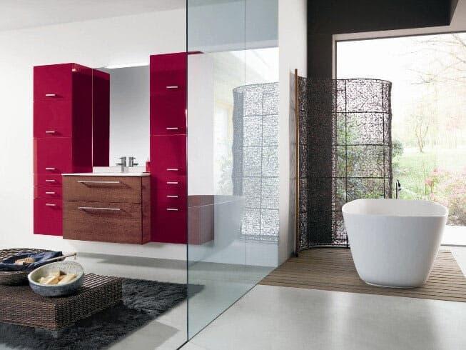 arredo bagno - arredamento a monclassico - trento - mobili casna - Bagni Moderni Rossi