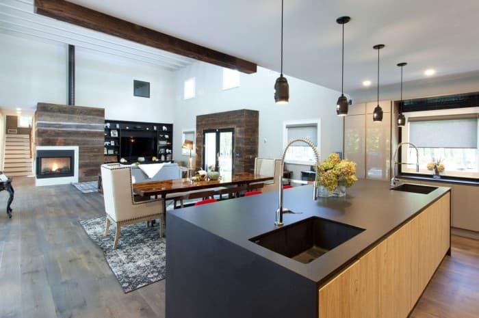 cucina-moderna-doppio-lavello-piano-nero