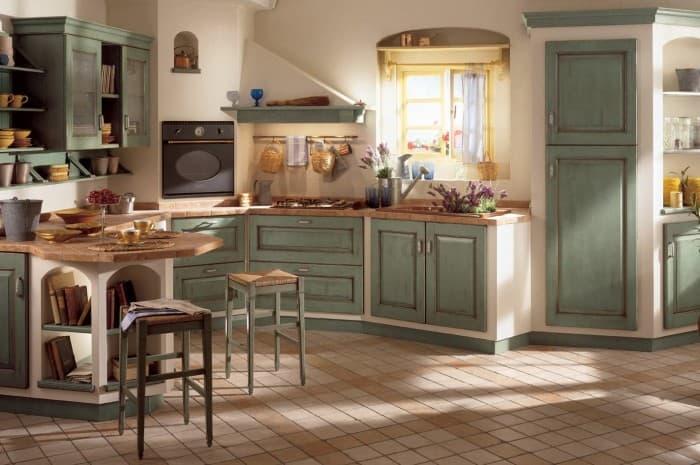 cucina-in-legno-classica-colore-verde-acqua
